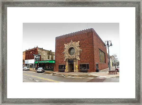 Grinnell Iowa - Louis Sullivan - Jewel Box Bank - 02 Framed Print