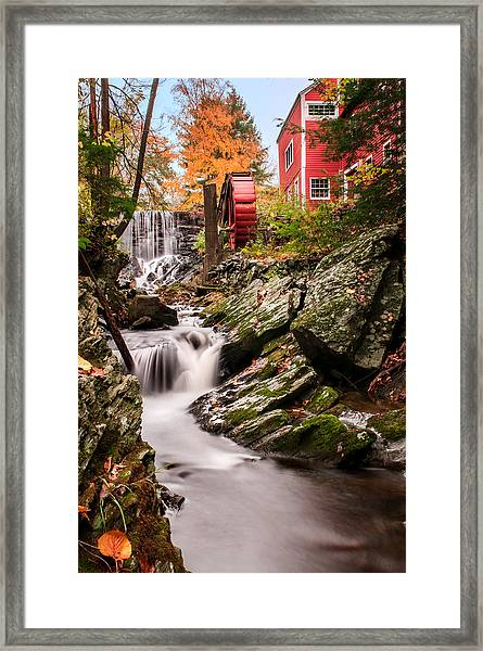 Grist Mill-bridgewater Connecticut Framed Print