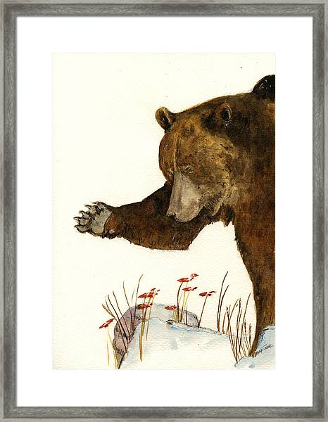 Grizzly Bear First Part Framed Print