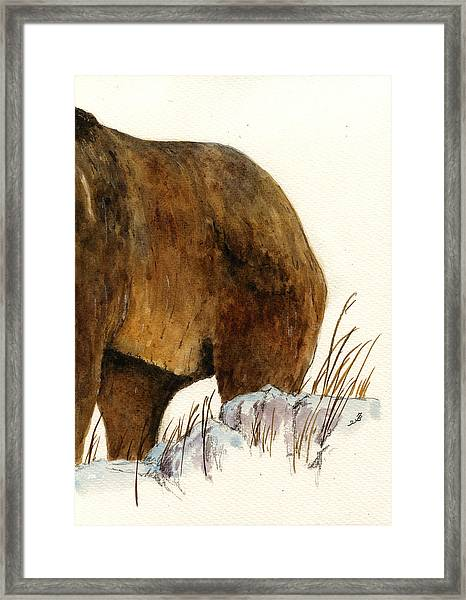 Grizzly Bear Second Part Framed Print