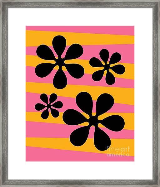 Groovy Flowers I Framed Print