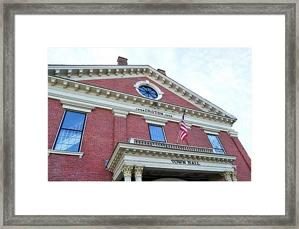 Groton Ma Town Hall 2 Framed Print