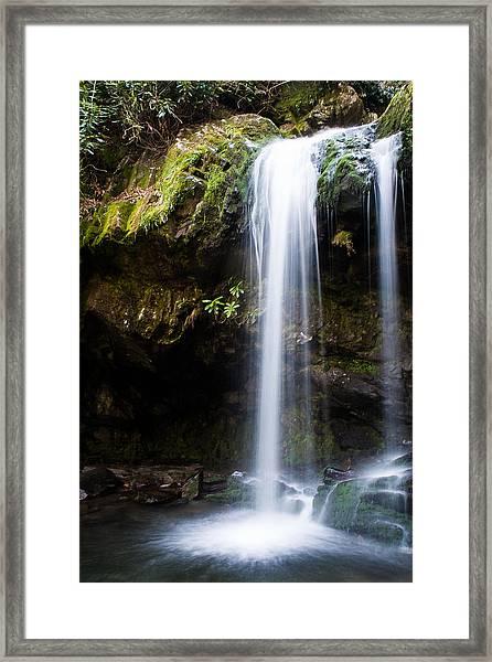 Grotto Falls Framed Print