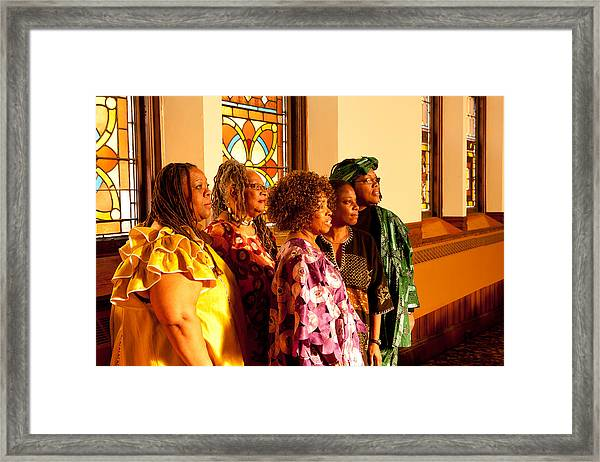 Group Of African Woman Performers Framed Print