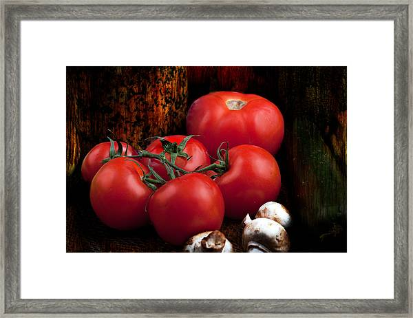Group Of Vegetables Framed Print