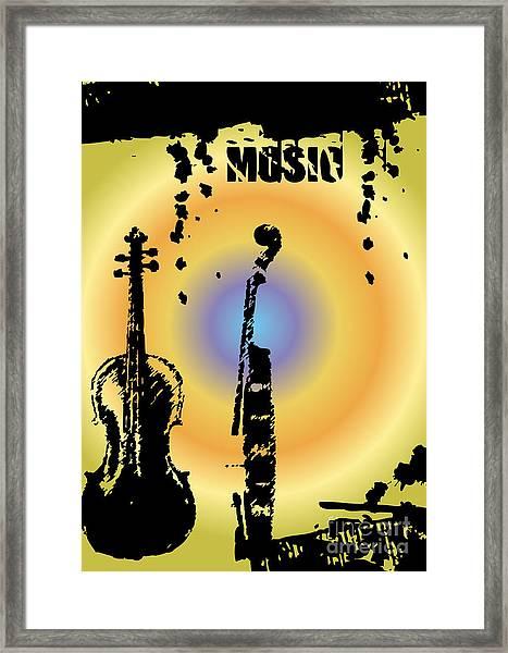 Grunge Background Vector Framed Print by Ozkan