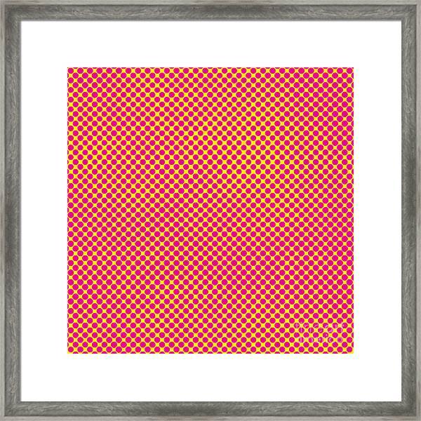 Grunge Halftone Background. Halftone Framed Print