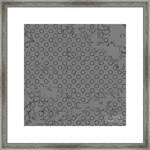 Grunge Halftone Vector Background Framed Print