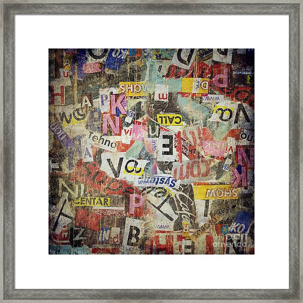 Grunge Textured Background Framed Print