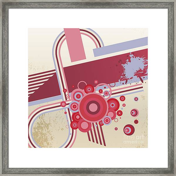 Grunge Vector Abstract  Background Framed Print by Storoch