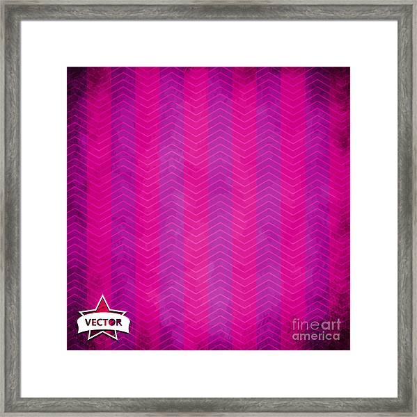 Grunge Vector Wallpaper Framed Print by Horenko
