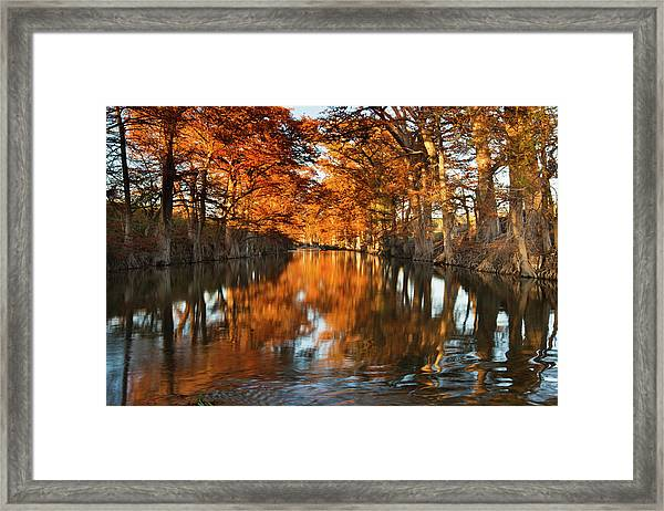 Guadalupe River, Texas Hill Country Framed Print
