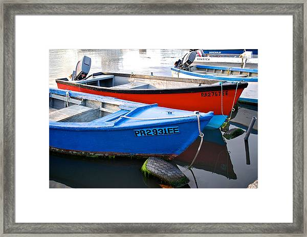 Guanica Skiffs Framed Print