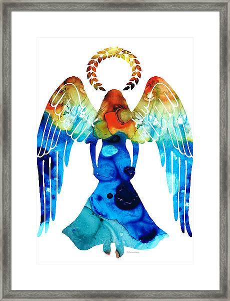 Guardian Angel - Spiritual Art Painting Framed Print