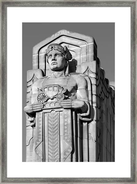 Guardian In Black And White Framed Print