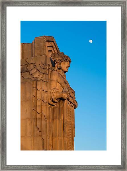 Guardian Moonrise Framed Print