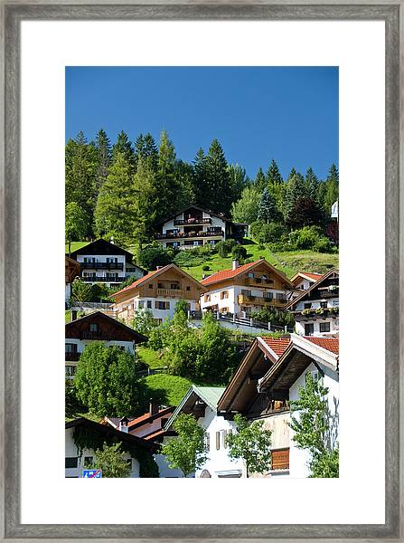 Guest Houses And Homes Built On The Framed Print