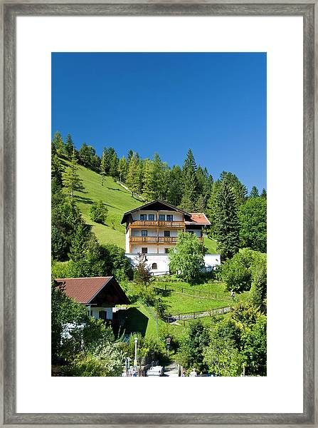 Guest Houses And Homes Villages Steep Framed Print
