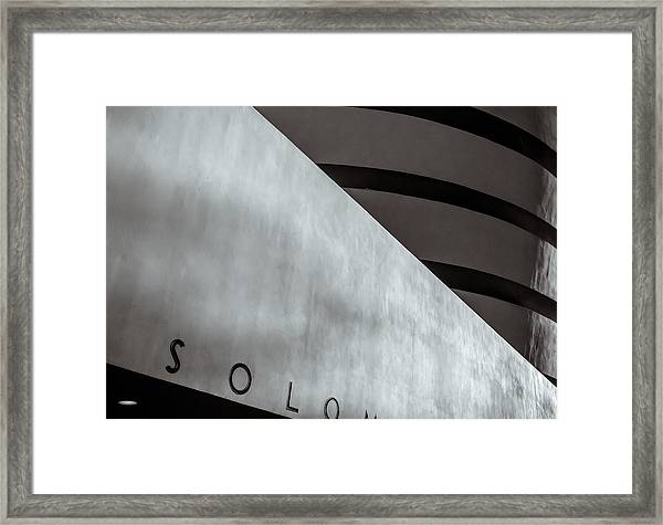 Framed Print featuring the photograph Guggenheim In Abstract by Steve Stanger
