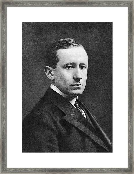Guglielmo Marconi Framed Print by Miriam And Ira D. Wallach Division Of Art, Prints And Photographs/new York Public Library