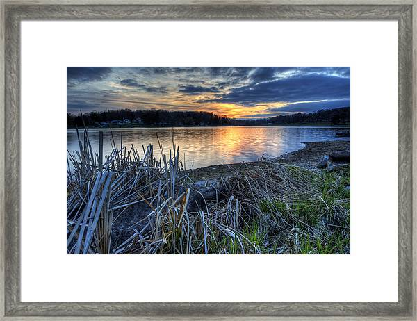 Guilford Lake Sunset Ohio Framed Print