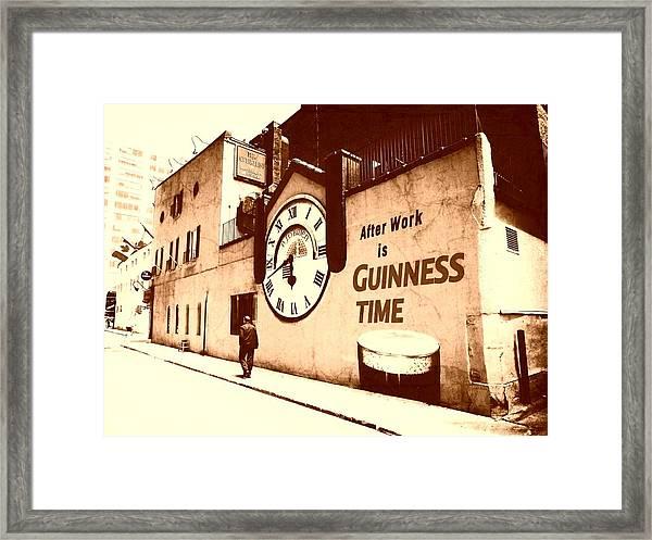 Guinness Time Framed Print