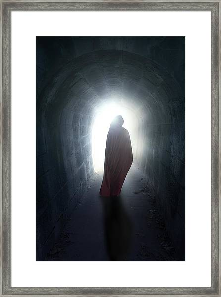 Guise In Tunnel Framed Print