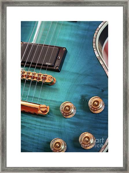 Guitar Blues Framed Print