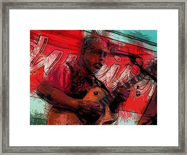 Guitar Jazz Player Framed Print