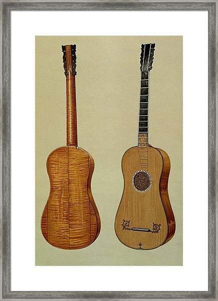 Guitar Made By Antonio Stradivarius Framed Print