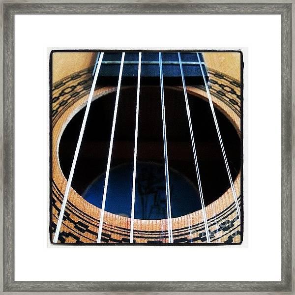 #guitar #music #musician Framed Print