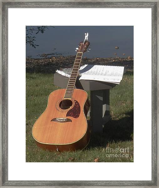 Guitar Solo Framed Print