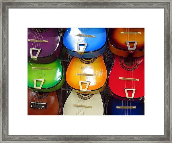 Guitaras San Antonio  Framed Print