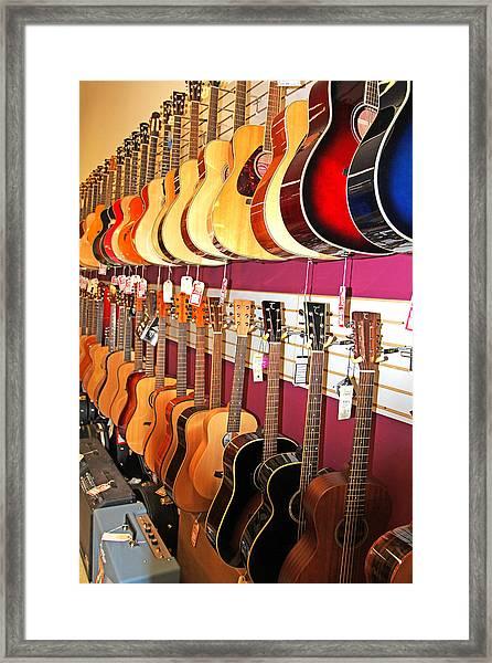 Guitars For Sale Framed Print