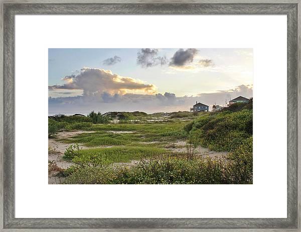 Gulf Coast Galveston Tx Framed Print