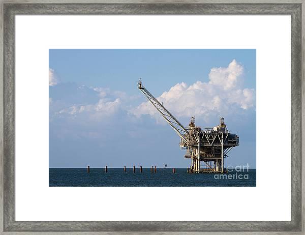 Gulf Oil Rig Framed Print