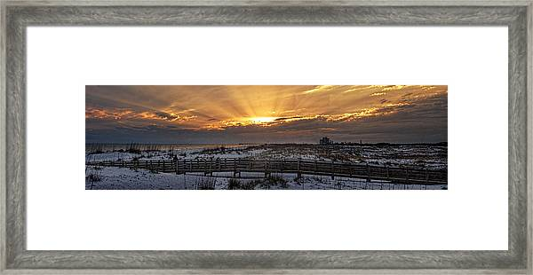 Gulf Shores From Pavilion Framed Print