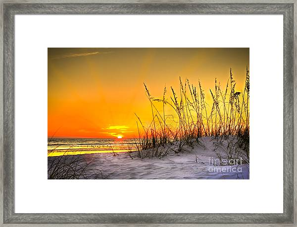 Gulf Sunset Framed Print