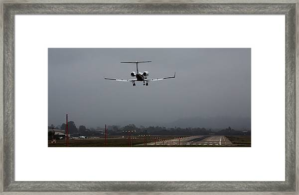 Gulfstream Approach Framed Print
