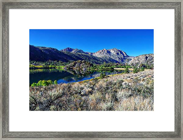 Gull Lake Fall Morning Framed Print