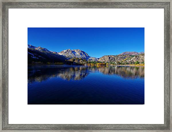 Gull Lake Sunrise In Fall Framed Print