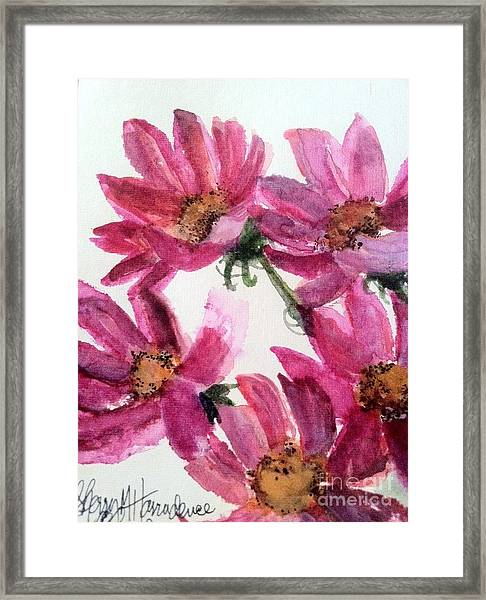 Gull Lake's Flowers Framed Print