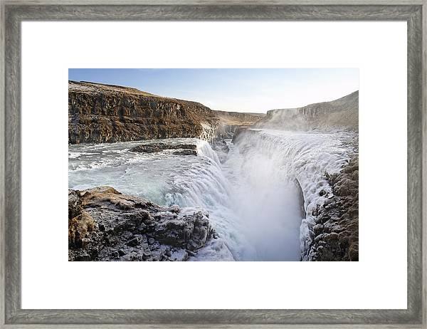 Gullfoss Iceland Framed Print