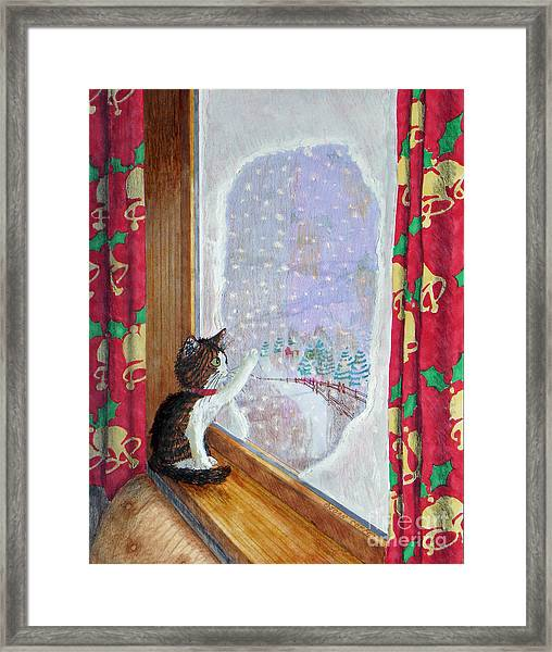 Gulliver And Snowflakes Framed Print