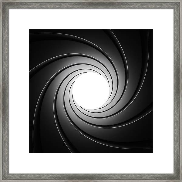 Gun Barrel From Inside Framed Print