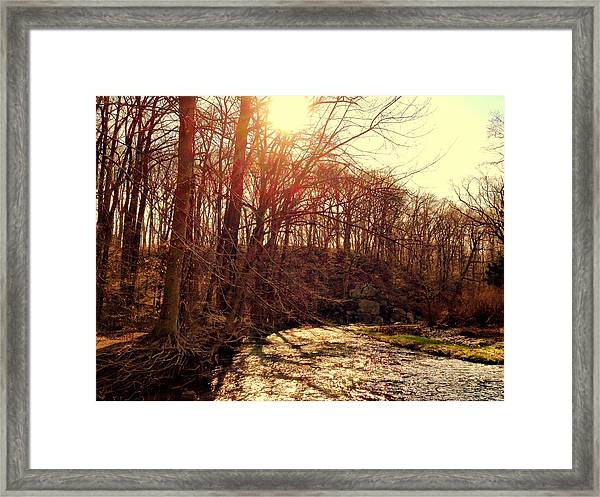 Gunpowder River Framed Print