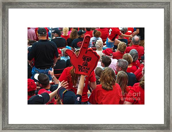Framed Print featuring the photograph Guns-up Salute by Mae Wertz