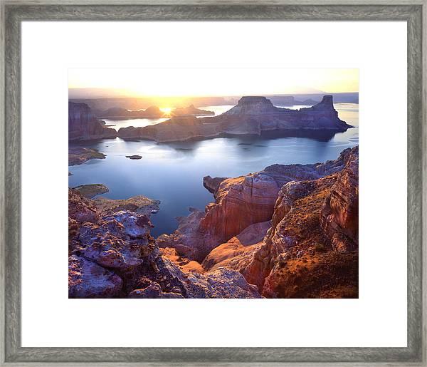 Gunsight Bay Sunrise Framed Print