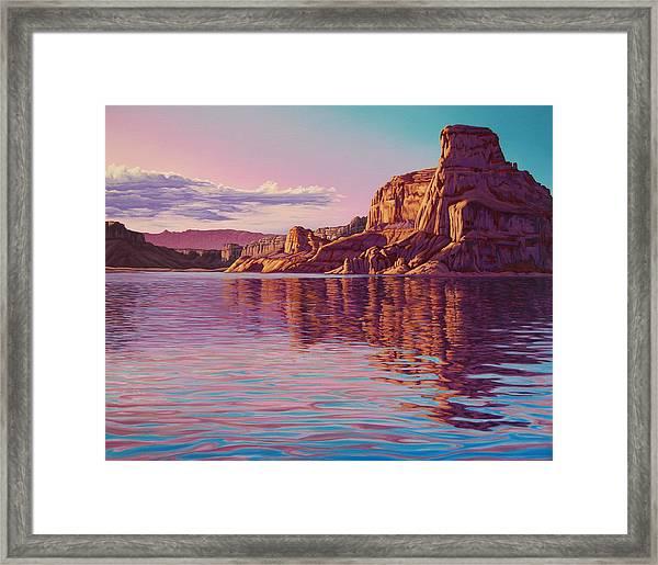 Gunsight Butte Framed Print
