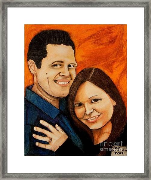 Guy And Bridget Framed Print